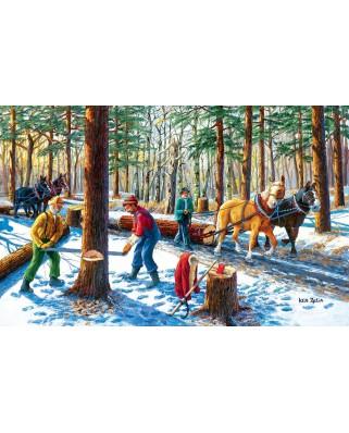 Puzzle SunsOut - Ken Zylla: Lumberjacks, 550 piese (64062)