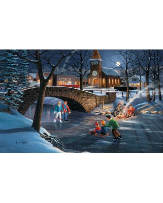 Puzzle SunsOut - Ken Zylla: Skater's Moon, 550 piese (64080)