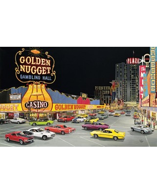 Puzzle SunsOut - Larry Fisher: Cruise Night at Glitter Gultch, 1.000 piese (64151)