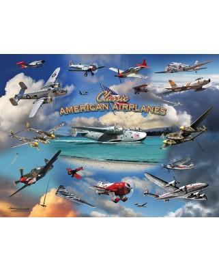 Puzzle SunsOut - Larry Grossman: Classic American Planes, 1.000 piese (63931)