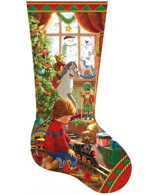 Puzzle SunsOut - Liz Goodrich Dillon: A Boy's Stocking, 800 piese (64424)