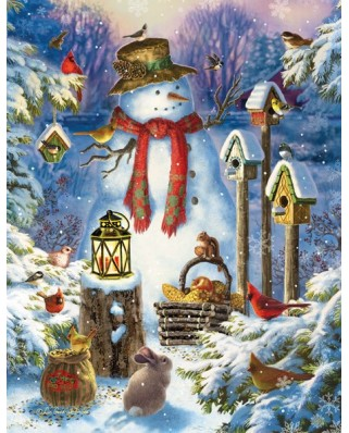Puzzle SunsOut - Liz Goodrich Dillon: Snowman in the Wild, 1.000 piese XXL (64252)
