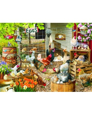 Puzzle SunsOut - Lori Schory: Barnyard Families, 1.000 piese (64015)