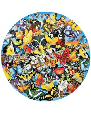 Puzzle SunsOut - Lori Schory: Butterflies in the Round, 1.000 piese (64017)