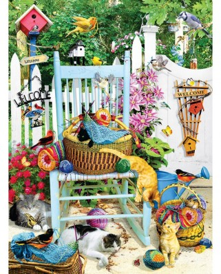 Puzzle SunsOut - Lori Schory: The Knitting Chair, 1.000 piese (64018)
