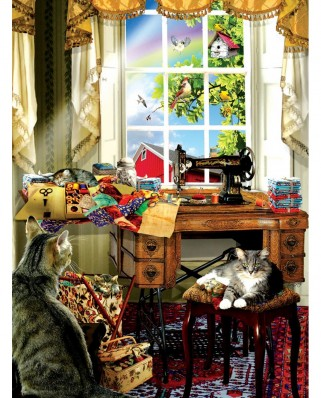 Puzzle SunsOut - Lori Schory: The Sewing Room, 1.000 piese (64020)