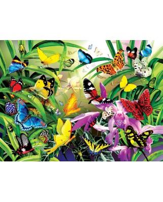 Puzzle SunsOut - Lori Schory: Tropical Butterflies, 1.000 piese (64007)