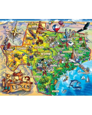 Puzzle SunsOut - Maria Rabinsky: Texas!!!, 1.000 piese (63917)