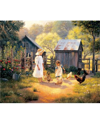 Puzzle SunsOut - Mark Keathley: Doing our Chores, 1.000 piese (64200)