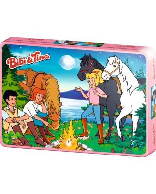 Puzzle Schmidt - Bibi si Tina, Aventura, 100 piese, cutie metalica (55580)