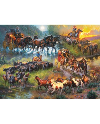 Puzzle SunsOut - Mark Keathley: Wagon Trails, 1.000 piese (64193)