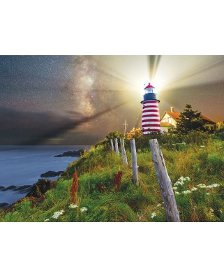 Puzzle SunsOut - Michael Blanchette: Night over West Quoddy Lighthouse, 1.000 piese (64118)