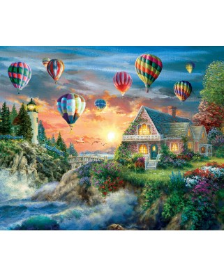 Puzzle SunsOut - Nicky Boehme: Balloons Over Sunset, 1.000 piese (63913)
