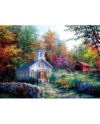 Puzzle SunsOut - Nicky Boehme: Worship in the Countryside, 1.500 piese (63915)