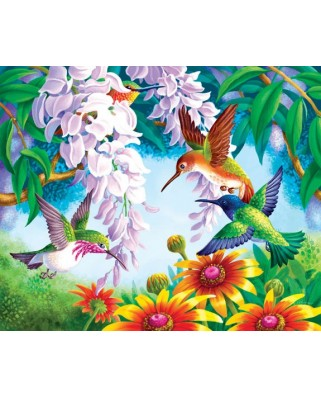 Puzzle SunsOut - Olga Kovaleva: Hummingbird Fly By, 1.000 piese (64300)