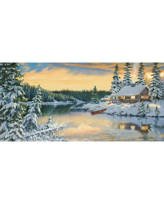 Puzzle SunsOut - Persis Clayton Weirs: Cabin on the River, 1.000 piese (64170)