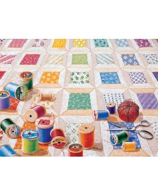 Puzzle SunsOut - Rebecca Barker: Spools, 1000 piese (63929)