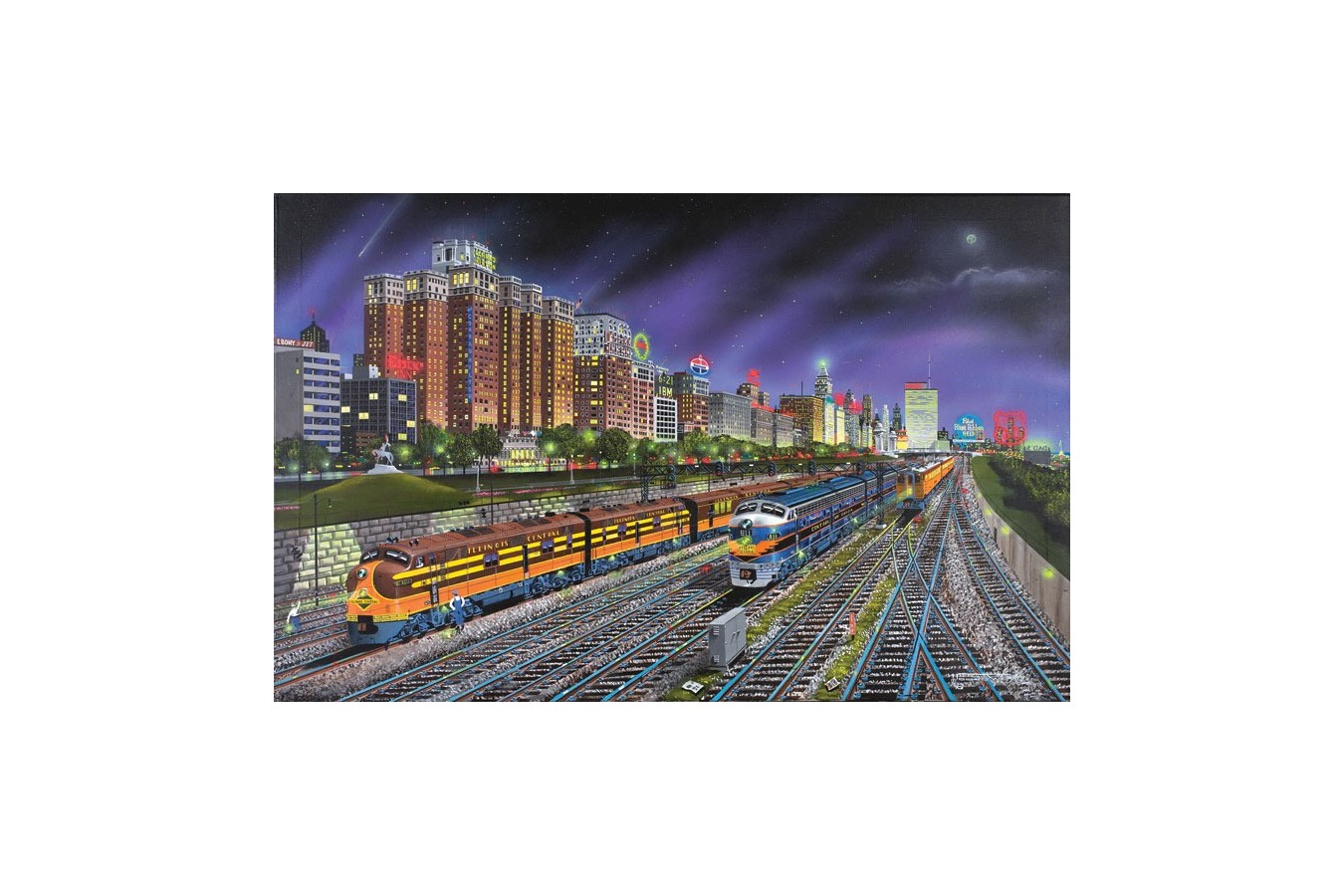 Puzzle SunsOut - Robert West: Chicago Nights, 1.000 piese (44905)