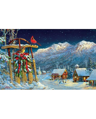 Puzzle SunsOut - Sam Timm: Cardinals Holiday, 550 piese (63974)