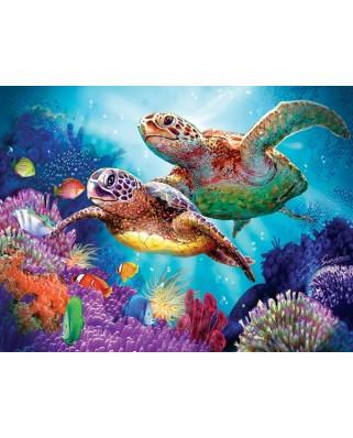 Puzzle SunsOut - Steve Sundram: Turtle Guardian, 1000 piese (64344)