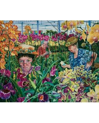Puzzle SunsOut - Susan Brabeau: Orchids with Mantis, 1.000 piese (64103)