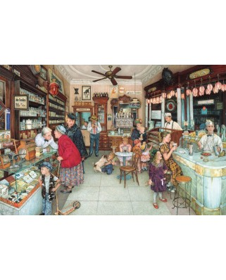 Puzzle SunsOut - Susan Brabeau: Soda Fountain, 1.000 piese (45084)