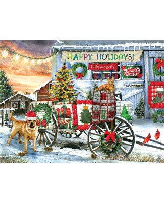 Puzzle SunsOut - Tom Wood: Holiday Wagon, 1.000 piese (63958)