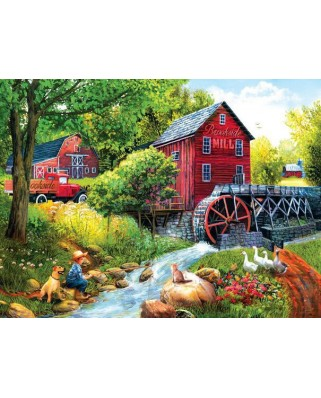 Puzzle SunsOut - Tom Wood: Playing Hookey at the Mill, 1000 piese (63964)