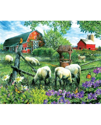 Puzzle SunsOut - Tom Wood: Pleasant Valley Sheep Farm, 1.000 piese (63950)