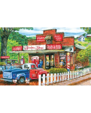 Puzzle SunsOut - Tom Wood: Saturday Morning at the Shop, 1000 piese (63954)