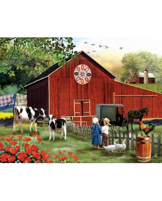 Puzzle SunsOut - Tom Wood: Serenity in the Country, 1.000 piese XXL (63960)