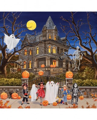Puzzle SunsOut - William Vanderdasson: Beware Haunted House, 1.000 piese (63984)