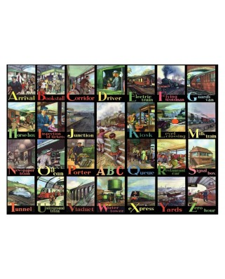 Puzzle The House of Puzzles - A to Z of Rail, 500 piese XXL (56612)