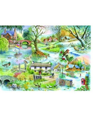 Puzzle The House of Puzzles - All Seasons, 500 piese (56809)