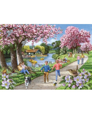 Puzzle The House of Puzzles - Apple Blossom Time, 500 piese XXL (60645)