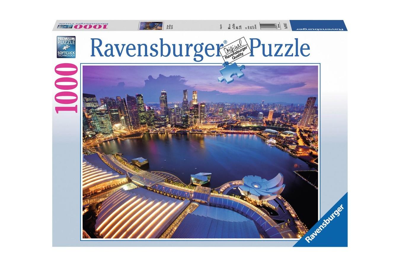 Puzzle Ravensburger - Orizontul Orasului Singapore, 1.000 piese (19141)