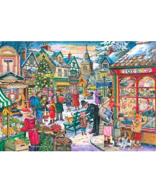 Puzzle The House of Puzzles - Christmas Collectors Edition No.10 - Window Shopping, 500 piese (56821)