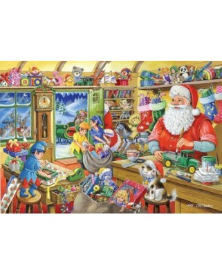 Puzzle The House of Puzzles - Christmas Collectors Edition No.5 - Santa's Workshop, 500 piese (56795)