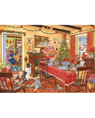 Puzzle The House of Puzzles - Christmas Collectors Edition No.8 - Unexpected Guest, 500 piese (56798)