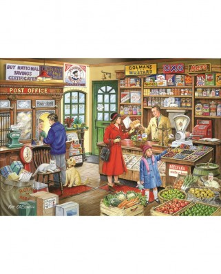 Puzzle The House of Puzzles - Corner Shop, 1.000 piese (56737)