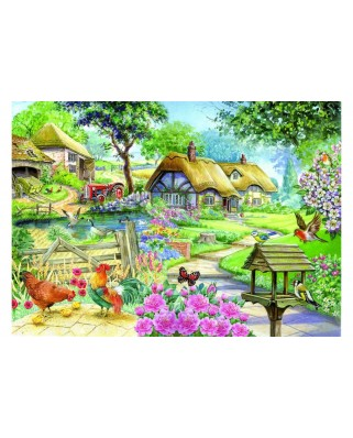 Puzzle The House of Puzzles - Cottage - Country Living, 500 piese XXL (56563)