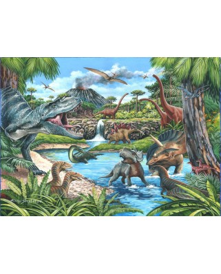 Puzzle The House of Puzzles - Dinosaurs, 500 piese XXL (65287)