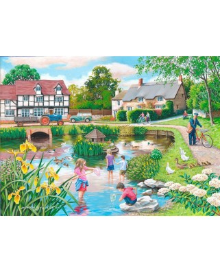 Puzzle The House of Puzzles - Duck Pond, 250 piese XXL (60663)