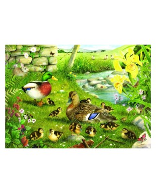 Puzzle The House of Puzzles - Ducks To Water, 500 piese XXL (56863)