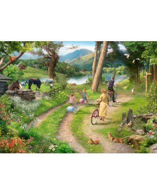 Puzzle The House of Puzzles - Family Day Out, 250 piese XXL (56812)