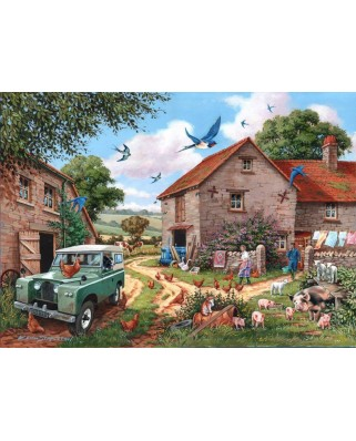 Puzzle The House of Puzzles - Farmers Wife, 500 piese XXL (56775)