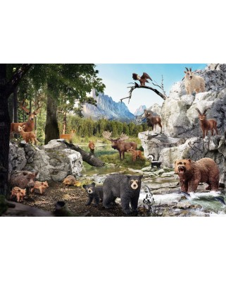 Puzzle Schmidt - The Animals of the Forest, 40 piese (56239)
