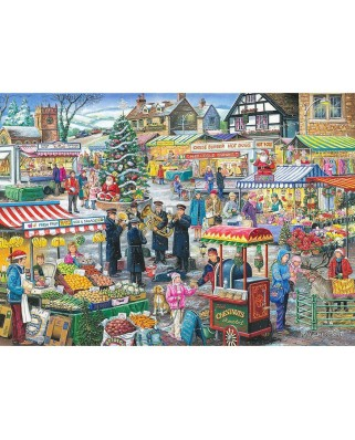Puzzle The House of Puzzles - Find the Differences No.5 - Festive Market, 1.000 piese (56659)