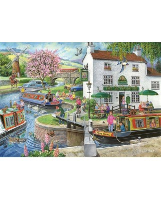 Puzzle The House of Puzzles - Find the Differences No.6 - By The Canal, 1.000 piese (56657)