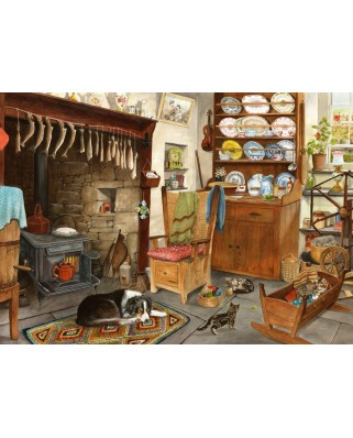 Puzzle The House of Puzzles - Fisherman's Cottage, 500 piese XXL (65279)